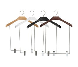 "NAHANCO 17"" Wooden Concave Display Hangers with 14"" Drop- Select Color"