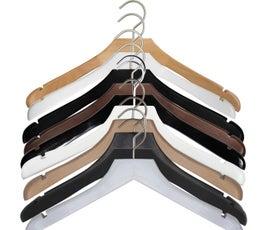 "NAHANCO Wooden Concave Jacket Hanger, 17"" - 6/CTN"