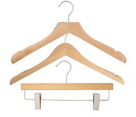 NAHANCO Wood Clothes Hanger Kit - Natural