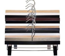 """NAHANCO Wooden Skirt/Pant Hanger, 12"""" & 14"""" - 25/CTN"""