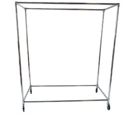 "Chrome Pipe Box Garment Rack 60"" with 1 1/4"""