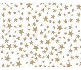 "Gold Star Pattern Tissue Paper – 20"" x 30"""