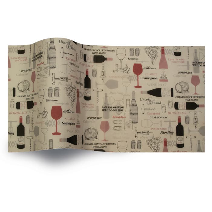 "Wine Me Up Tissue Paper, 20"" x 30"""