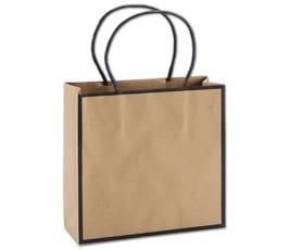 Kraft/Black Edge Small Shoppers