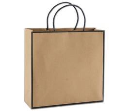 Kraft/Black Edge Medium Shoppers