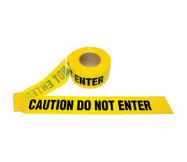 Barricade Tape, Caution Do Not Enter, Yellow, One Roll