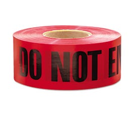 Barricade Tape, Do Not Enter, Red, One Roll