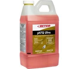 Neutral Disinfectant Cleaner Concentrate, 67.6 oz. Refill Bottle, Lemon Scent, 4/CT