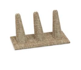 Three Finger Ring Display, Burlap