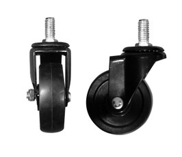 """3"""" Casters for Pipeline System - Black"""
