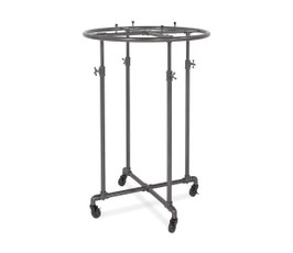 "Adjustable and Mobile Pipeline Round Clothing Rack, 36"" – Anthracite Grey"