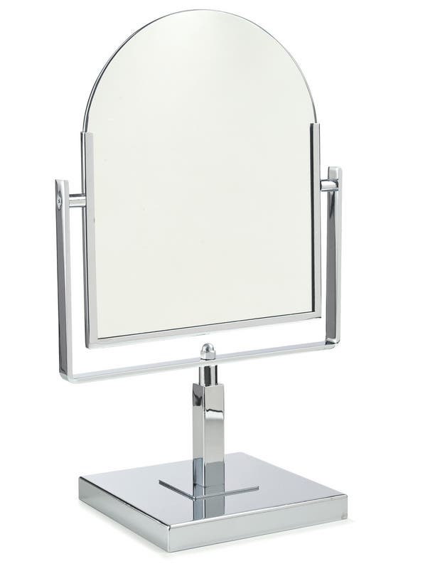 Double-Sided Rectangular Mirror with Base