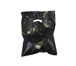 """Black Die-Cut Handle Bags, 12""""W x 15""""H"""