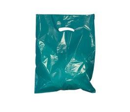 """Teal Die-Cut Handle Bags, 12""""W x 15""""H"""