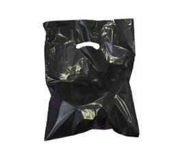 """Black Die-Cut Handle Bags, 15""""W x 18""""H x 4""""D"""