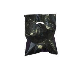 """Black Die-Cut Handle Bags, 9""""W x 12""""H"""