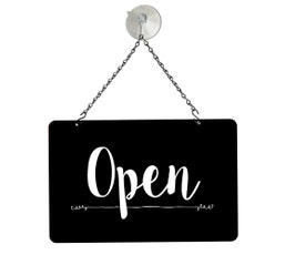 "Black Open/Closed Metal Sign Kit, 12""W x 8""H"