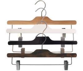 "Equinox Wooden Pant/Skirt Hanger, 14"""
