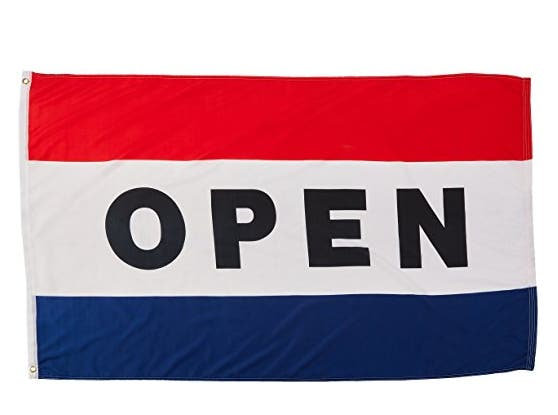 OPEN Flag, 3' x 5'