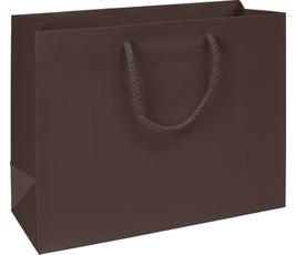 Premium Chocolate Matte Euro-Shoppers, Large