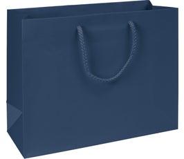 Premium Navy Matte Euro-Shoppers, Large