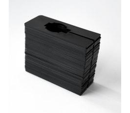 Clothing Size Dividers for Closet Organization, Rectangular – Black/Blank (Kit of 50)