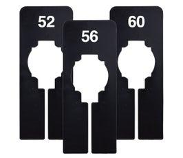 Rectangular Size Divider – Black, Imprinted Numerical Sizes: 51 - 66