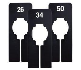 Rectangular Size Divider – Black, Imprinted Numerical Sizes: 26 -50