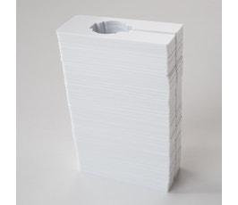 Clothing Size Dividers for Clothing Racks, Rectangular – White/Blank (Kit of 100)