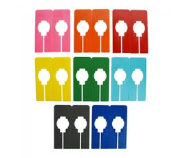Colorful Rectangular Clothing Size Dividers for Home Closets or Clothing Stores, 8 Mixed Colors - Blank (Kit of 16)