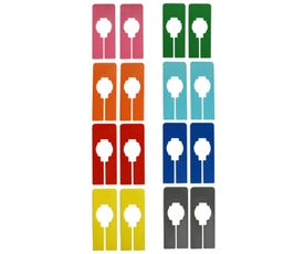 Colorful Rectangular Clothing Size Dividers for Home Closets or Clothing Stores, 8 Mixed Colors - Blank (Kit of 40)