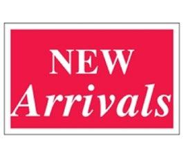"Plastic Display Cards - 7"" x 11"" - ""New Arrivals"""