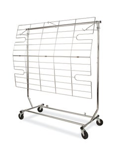 Add On Metal Shelf and/or Display Screen for Rolling Rack, RCS-1 - Chrome