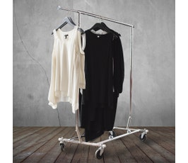 Collapsible Rolling Clothes Rack
