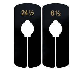 Regular Size Divider, Black – Imprinted in Gold Ink - Half Sizes: 6 1/2 - 24 1/2