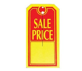 Slit Tag, Sale Price – Red/Yellow