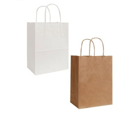 Kraft Shopping Bags, Small