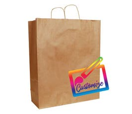 "Sustainable Kraft Shopping Bags with Serrated Edges, Natural– 16""x6""x19.25"" - 200/CTN."
