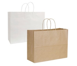 Kraft Shopping Bags, Medium