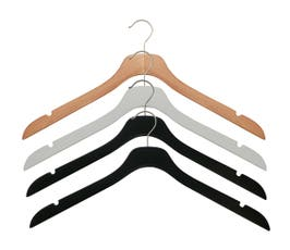 "17"" NAHANCO SlimLine Space Saving Wooden Shirt/Dress Hanger- Select Color & Pack Size"