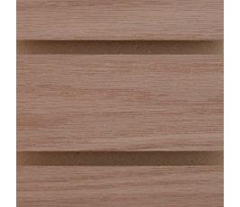 slatwall - red oak