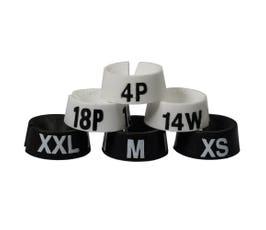 "3/4"" Size Markers - 100 pack | Select Black or White -XXS - XXXL"