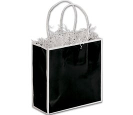 Bookman Black/White Edge Small Shoppers