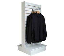 Slatwall 2-Way Merchandiser Display in White