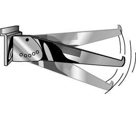 "Shelf Brackets - Adjustable 12"" Chrome"