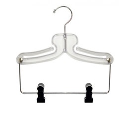 "11"" Swimwear/Tank/Athletic Hanger - Clear w/4"" Drop"