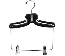 """11"""" Swimwear/Tank/Athletic Hanger - Black w/6"""" Drop"""