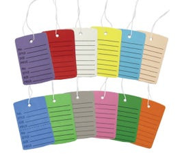 Strung Perforated Coupon Price Tags, Large