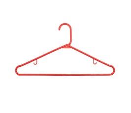 "Plastic Tubular Hangers - 17"" Red"