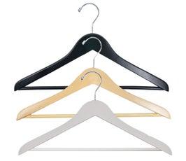 "Economy Wooden Suit Hangers - Flat - 17"""